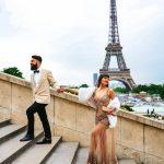 girl and boy in paris couple in paris
